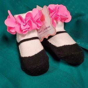 Flower Mary Jane Sock